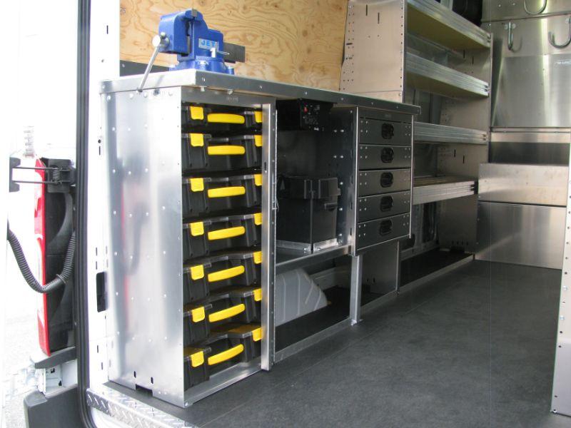 Fleet Upfitting -Hi-Lite Truck Accessories, alumi van shelving