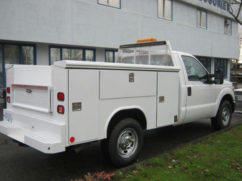 fleet upfitting, white truck, Hi-Lite Truck Accessories, Surrey BC