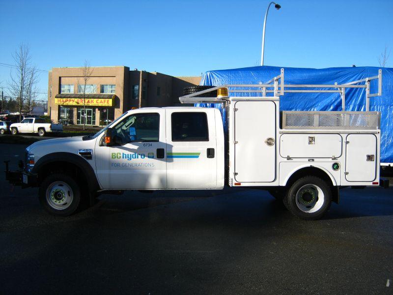 fleet upfitting, BC Hydro truck, Hi-Lite Truck Accessories, Surrey BC