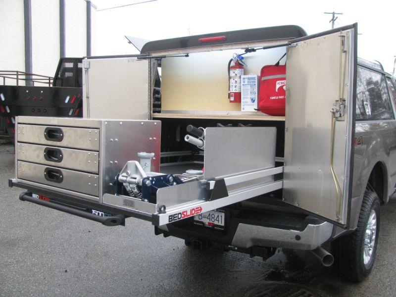 custom fabrication, back of a grey truck, Hi-Lite Truck Accessories, Surrey BC